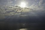 Sonnenstrahlen über Großem Belt