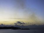 Abgaswolke von Schiff im Oslofjord