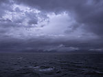 dark clouds over Tranöyfjorden