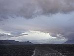 stürmisches Wetter über Tranöyfjorden