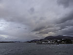 Finnsnes with bridge to island Senja