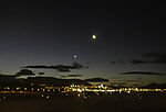 Moon and planet Venus over Tromso