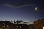 Morgendämmerung mit Venus und Mondsichel