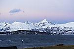 Beginn der Polarnacht über Insel Kvalöya