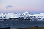 onset of polar night over island Kvalöya