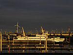 Abend im Hafen von Norddeich