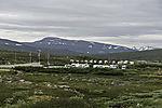 mobile homes at visitor centre at polar circle