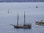 tourist boat in Oslo harbour