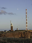 Moon over island Helgoland