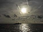 contrails over North Sea