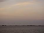 Windpark in Abenddämmerung