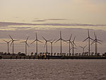 windpark in dusk