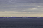 ships traffic befor windpark off island Helgoland
