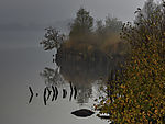 autumn reflection on lake Ewiges Meer