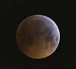 lunar eclipse red