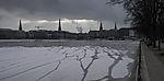 Risse im Eis der Binnenalster