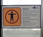 label defect door in train