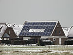 photovoltaic cells on house