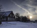 Winterabend am Bauernhof