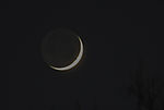 waxing crescent Moon three days afte New Moon
