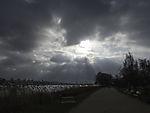 dunkle Wolken über der Alster