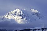 clouds at mount Bentsjordtinden