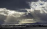 crepuscular rays over Malangen