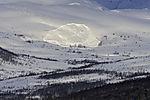 snowslide on mount Litjefjellet
