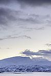 crescent Moon on evening sky