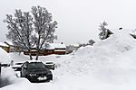 snowbound parking lot in Tromso