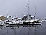 Winter im Hafen von Tromsö