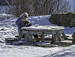 Picknick im Winter