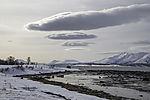 Wolken über den Bergen von Malangen