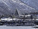 Bootshafen in Tromsö im Winter