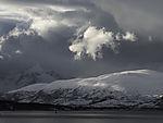 winter on island Kvalöya