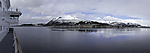 island Langöya from Sortlandsundet panorama