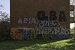 graffiti on house wall