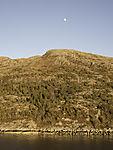 Mond über Halbinsel Kvingla