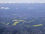 landscape near Hamburg from the air