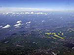 river Elbe from the air