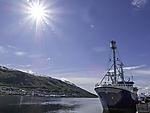 altes Polarforschungsschiff Lance in Tromsö