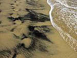 Schwermineralien am Strand in Matalascanas
