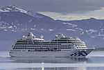 cruiseship Pacific Princess near Tromsö