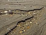 Erosion am Strand bei Huelva