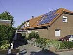 Sonnenenergie auf Wohnhaus