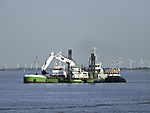 dredging in river Elbe