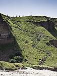 Helgoland steile Treppe am Kliff im Norden
