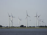 windpark at river Elbe