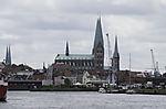 Hafen und Kirchtürme in Lübeck