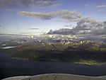 Berge am Balsfjorden aus der Luft